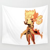 naruto Wall Tapestries featuring Naruto  by WTFmoments