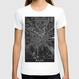 Milan Black Map T-shirt