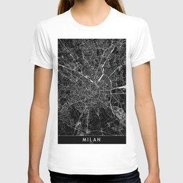 Milan Black Map T-shirt