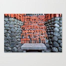 Mini Toriis in Fushimi Inari Shrine Canvas Print