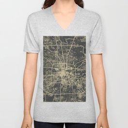 Cincinnati map Unisex V-Neck