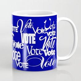 Vote! Blue Coffee Mug
