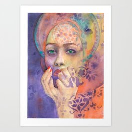 Queen Arabela with Blue eyes Art Print