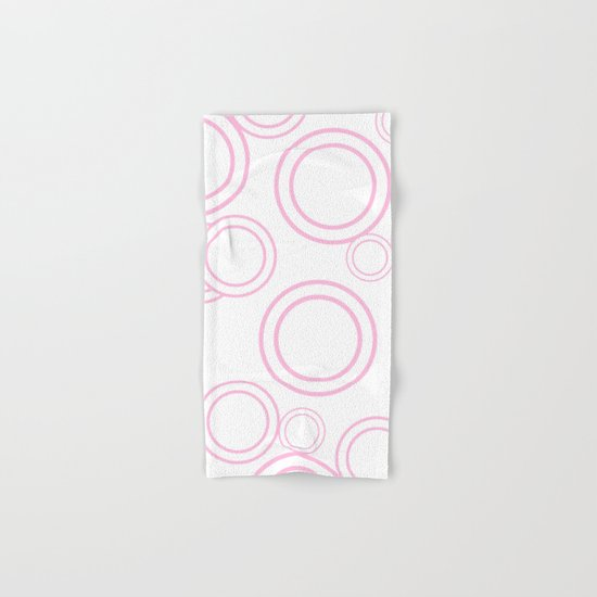 Abstract circles - abstract patterns - pink Hand & Bath Towel