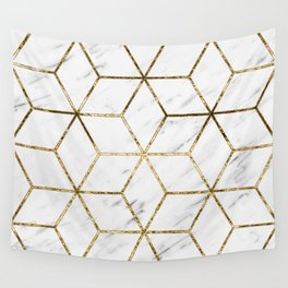 Gatsby golden marble Wall Tapestry