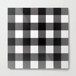 Black & White Buffalo Plaid Metal Print