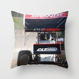 Kyle Larson motor heat Throw Pillow