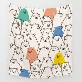 Bears party Wall Tapestry