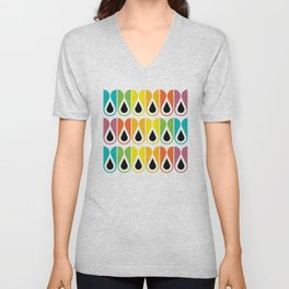 Geometric Pattern #120 (colorful loops) Unisex V-Neck