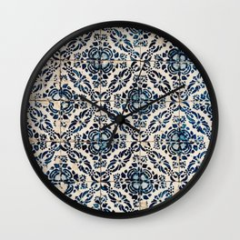 Azulejos - Portuguese painted tiles II Wall Clock