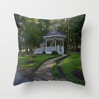 american Throw Pillows featuring American by Dymond Speers