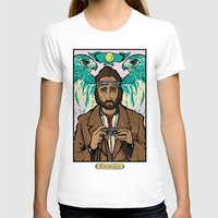 tenenbaums T-shirts featuring Richie Tenenbaum (Royal Tenenbaums) Movie Poster Print  by Nick Howland