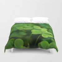 clover Duvet Covers featuring Clover by Michelle McConnell