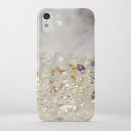 White Crystals Bokeh iPhone Case