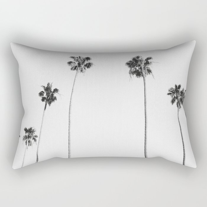 Black & White Palms Rectangular Pillow