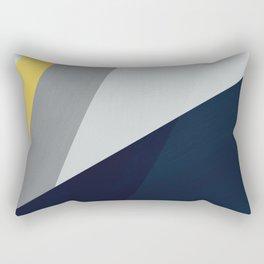 Paint blocks mid century modern textured art stripes Rectangular Pillow