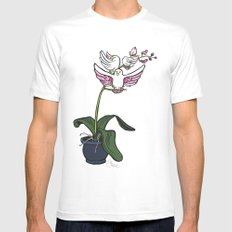 THE RARE SONGBIRD ORCHID MEDIUM White Mens Fitted Tee