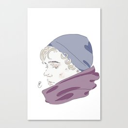 Isak Valtersen (scarf) Canvas Print