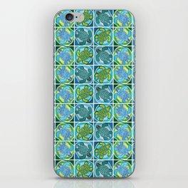 Funky Green Turtle iPhone Skin