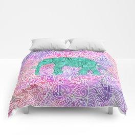 Elephant in Paisley Dream Comforters