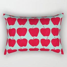 9 Apples (Pale Turquoise) Rectangular Pillow