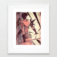 dragon age Framed Art Prints featuring Dragon Age: Marian Hawke by Sara Cuervo
