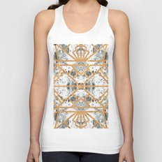 Marble Deco Shade One; Unisex Tank Top