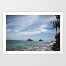 Lanikai Beach, Kailua, Oahu, Hawaii Art Print