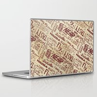 lettering Laptop & iPad Skins featuring Lettering Type by Little faba