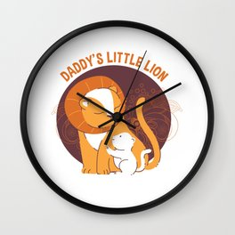 Daddy's Little Lion Wall Clock