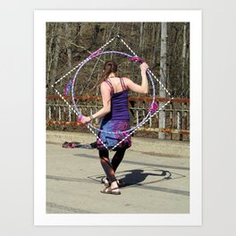 The Circle Inside the Square (Hula Hoop Series) Art Print