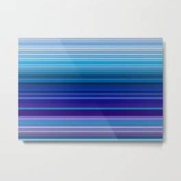 50 Shades of BLUE - Living Hell Metal Print