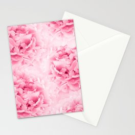 Light Red Peonies Dream #1 #floral #decor #art #society6 Stationery Cards