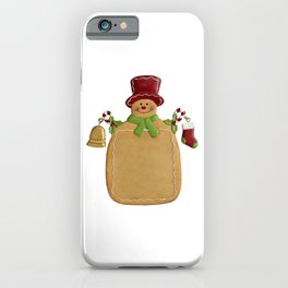 Christmas Ginger Bread Man iPhone Case