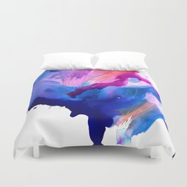 Danbury Abstract Watercolor Painting Duvet Cover