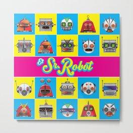 El Señor Robot Metal Print