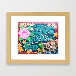 Spread Love / Brooklyn, New York Framed Art Print