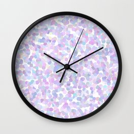 Geometric abstract lavender texture Wall Clock