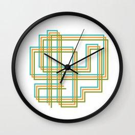 Square Ways Wall Clock