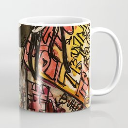 La flame,travis,music,hiphop,poster,astro world,tour,wall art,artwork,painting,colourful Coffee Mug