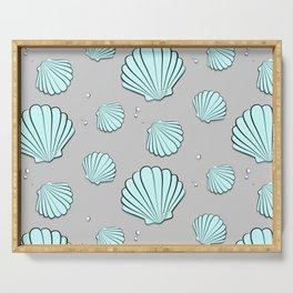 Sea shell jewel pattern Serving Tray