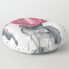 Romantic Rainy Couple Floor Pillow