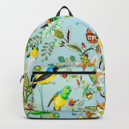 Colourful Birds Chintz Multicolour Backpack