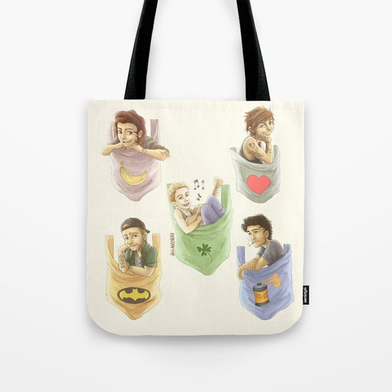 Pocket 1D Tote Bag