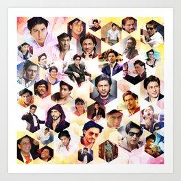 Shahrukh Khan Pillowcase Art Print