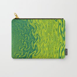 Ripples Fractal in Greens Carry-All Pouch