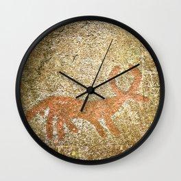 Pictogram at Vitlycke, Sweden 4 Wall Clock
