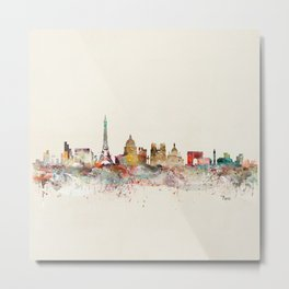 paris city skyline Metal Print