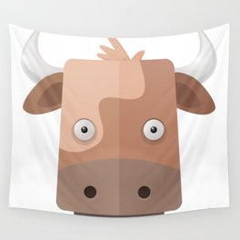 The Cow of Videos Manguis Wall Tapestry