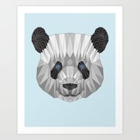 panda Art Prints featuring panda by Nir P